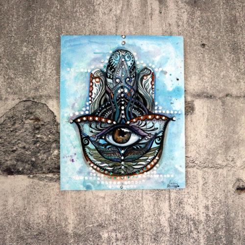 """Acrylmalerei auf Leinwand """"Die Hand der Fatima"""""""