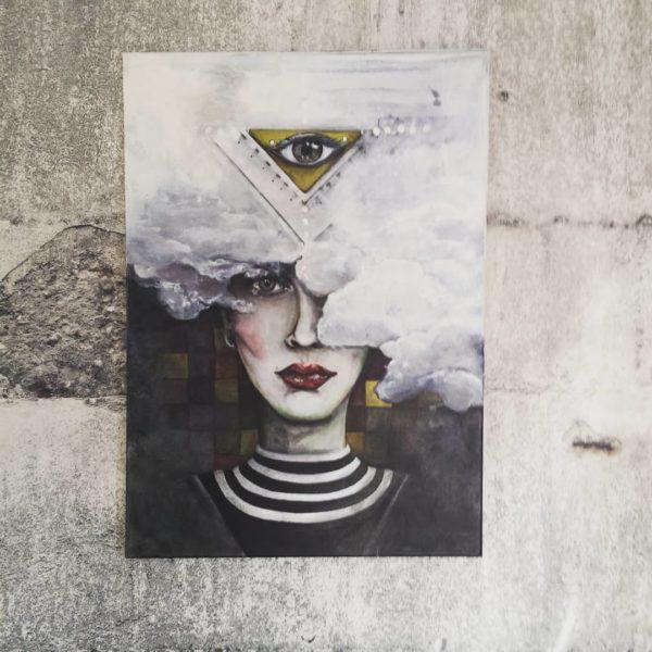 """Acrylmalerei auf Leinwand """"deprimere"""""""
