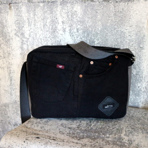 Jeansupcycling Tasche A4 quer