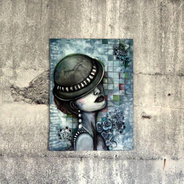 """Acrylmalerei auf Leinwand """"die Melone"""""""