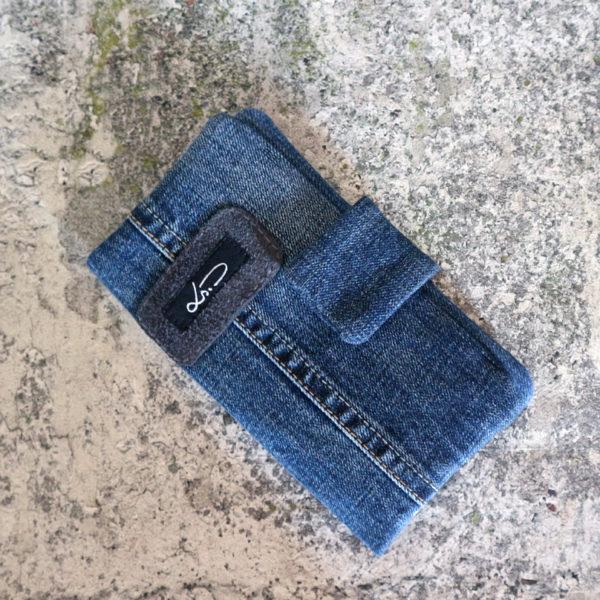 Jeansgeldbörse groß dunkel
