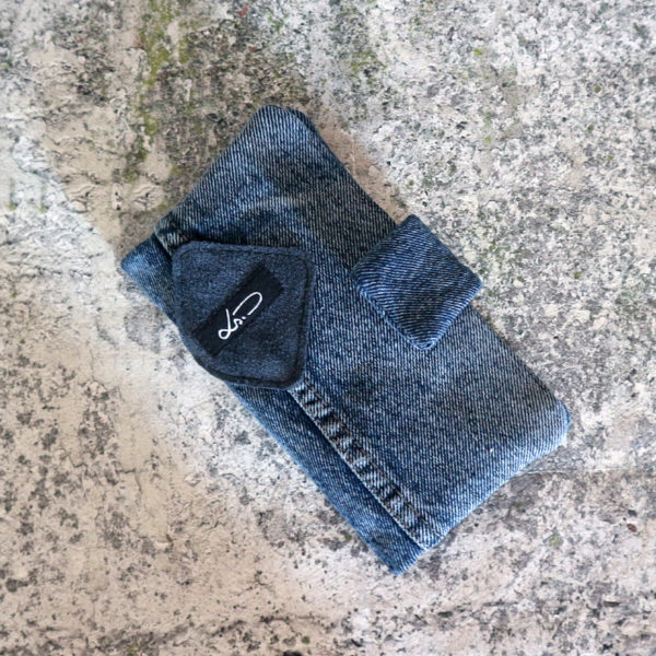 Jeansgeldbörse dunkelblau groß