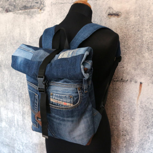 Jeansupcycling Rolltop Rucksack