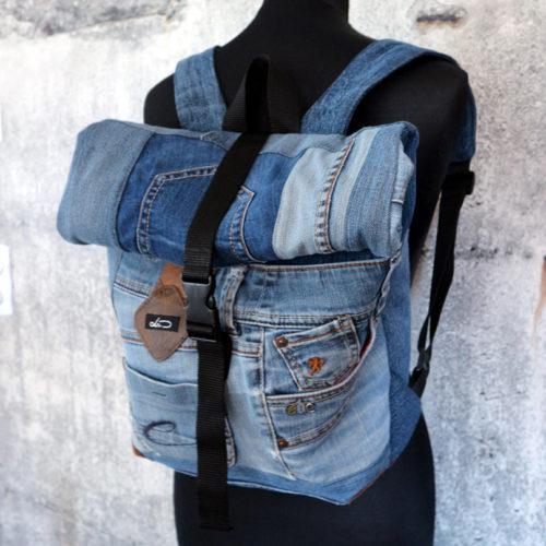 Rolltop Rucksack Jeans