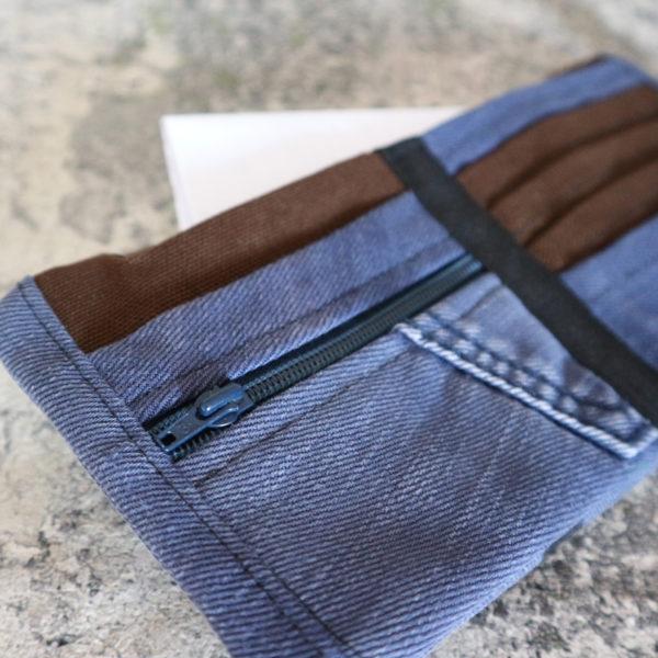 Jeansgeldbörse klein blau