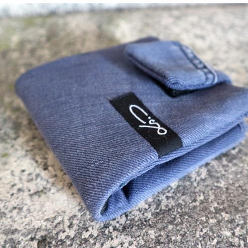 Jeans Geldbörse blau klein