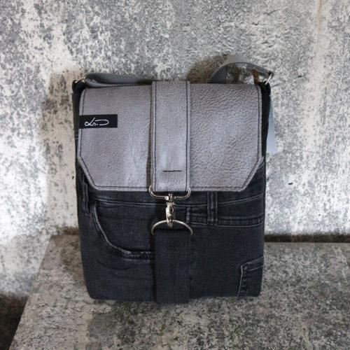 Jeansupcyclingtasche A5 schwarz